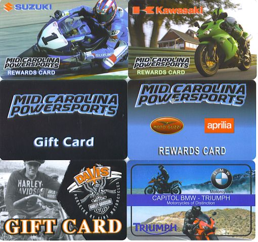 motor sports gift cards